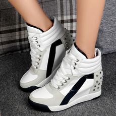 casual shoes, wedge, Sneakers, elevatorshoe
