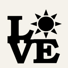 Car Sticker, Love, Sun, Stickers
