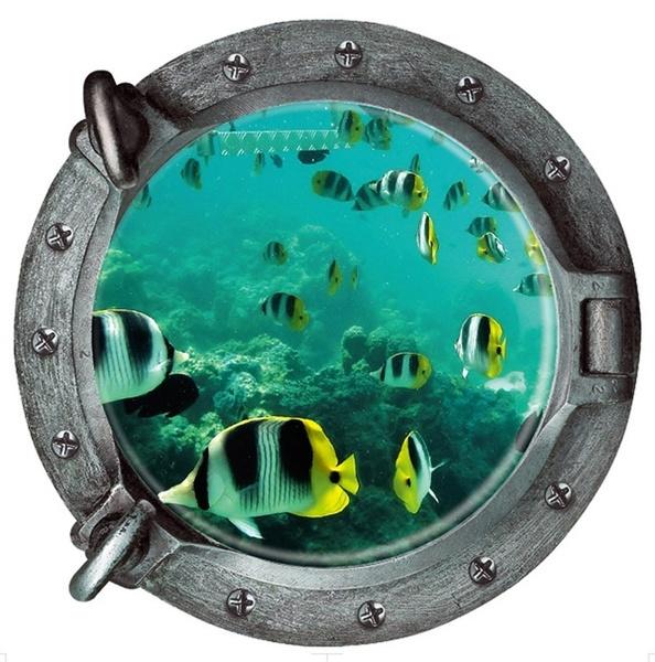 underwater, Decor, room, Wall