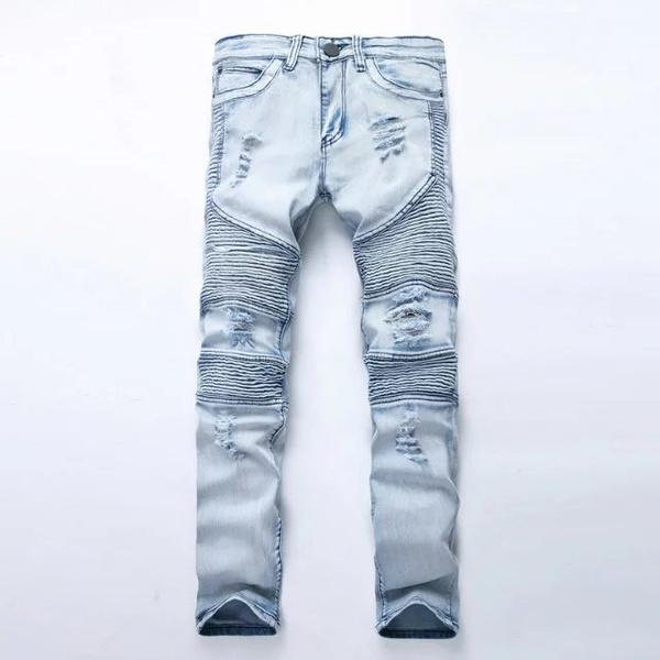 men's jeans, biker, slim, men trousers