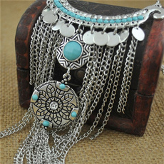 cointasselnecklace, Turquoise, Fashion, Jewelry