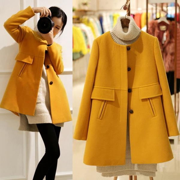 Jacket, longtrenchcoatforwomen, singlebreastedcoat, womenovercoat