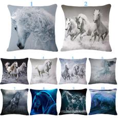 horse, Home Decor, Home & Living, squarepillow