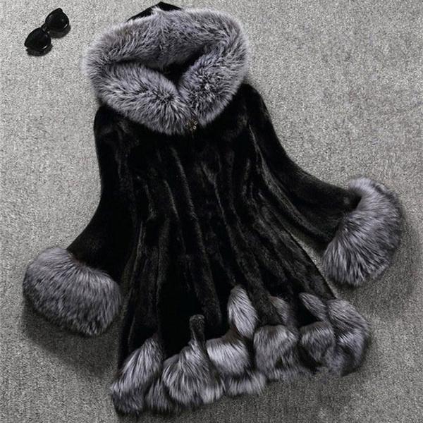 fur coat, Overcoat, fur, Winter