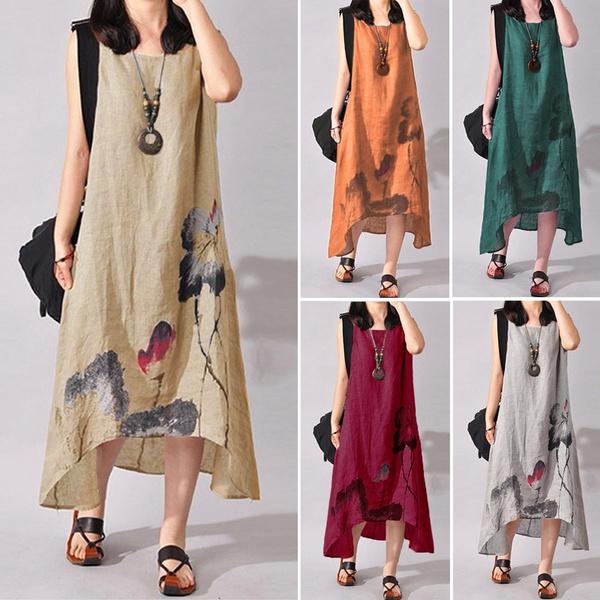 Vest, long dress, Vintage, Dress