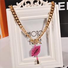 Chain Necklace, Moda, setauger, alloypendant