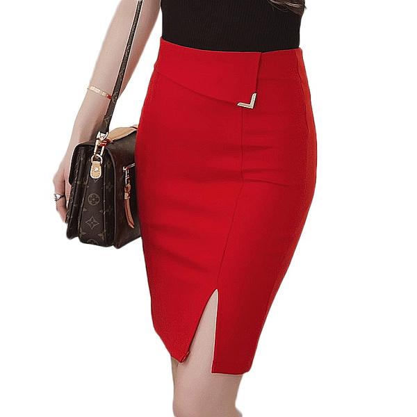 pencil skirt, high waist, Waist, slim