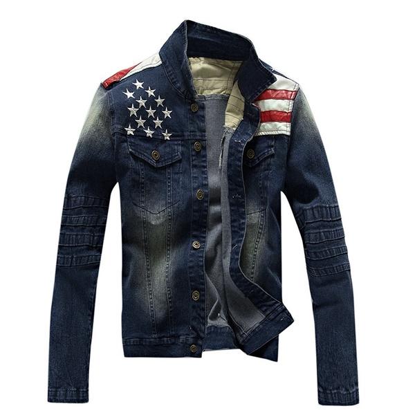 men coat, Fashion, denimjacketsformen, autumnandwinterjacket