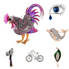 Jewelry, Gifts, parrotbrooch, crystalbrooch