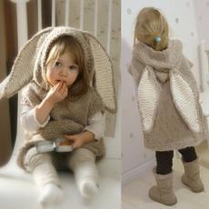 pulloverscloak, rabbitear, Fashion, cute