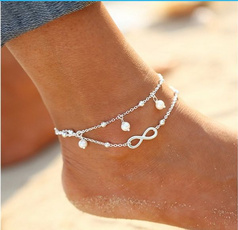 Summer, Fashion, Infinity, Anklets