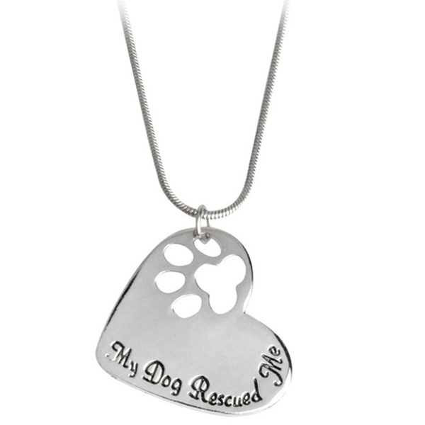 dogspaw, Heart, Chain Necklace, Fashion