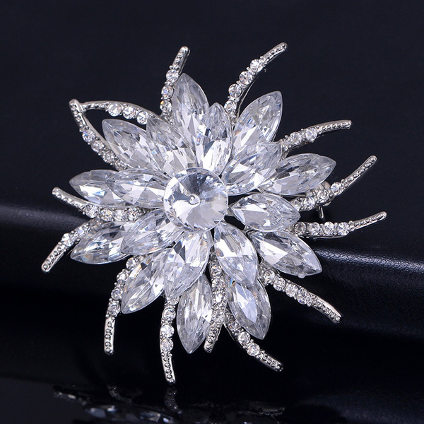crystalglas, Flowers, Pins, Brooch Pin