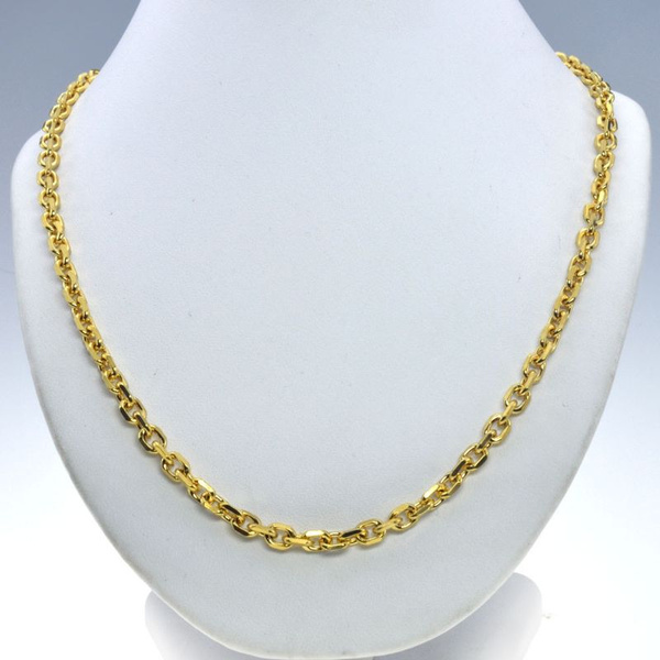 Chain Necklace, mennecklacegold, gold, necklace for women