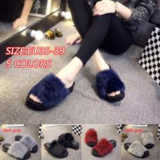 non-slip, Slippers, Fashion, fur