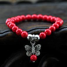 redcoralbracelet, butterfly, pendantbracelet, loverbracelet