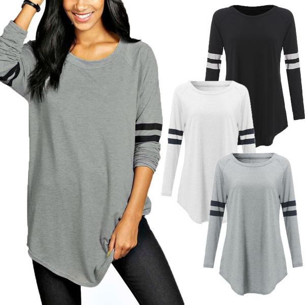 blouse, slim, Shirt, roundnecktshirt