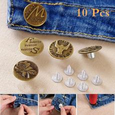 buttonspant, Metal, Denim, Sewing
