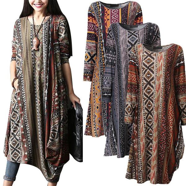 linen dress, Floral print, Shirt, Sleeve