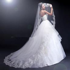 Fashion, Lace, bridalveil, weddingbridalveil