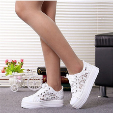 casual shoes, Sneakers, Floral print, Lace