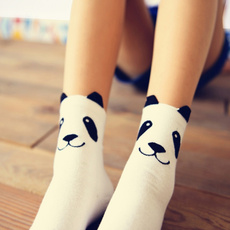 cartoonsock, womensock, cute, pandasock