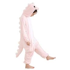 dinosaurcartoonpajama, pink, Fleece, dinosaursonesiepajama