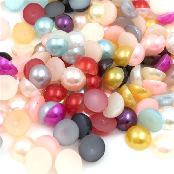 halfroundpearl, decorativematerial, halfroundbead, pearls