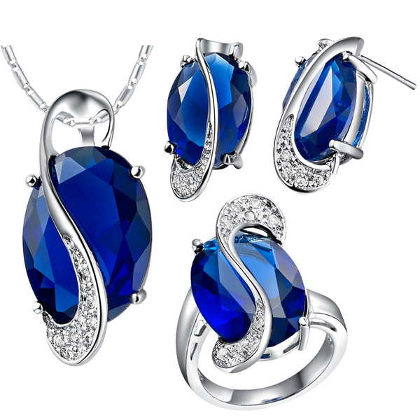 Blues, Jewelry Set, Unique, 925 sterling silver