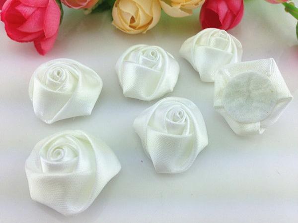 satinribbonroseflower, diydecoration, Flowers, laceflowerrhinestone