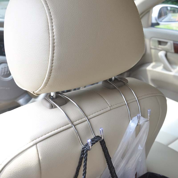 Silver N//N Car Seat Hanger Hook Easy Hook for Car/for Purse Grocery Shopping Bags-2 Pack