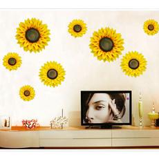 Decor, Flowers, Wall Art, Fabric