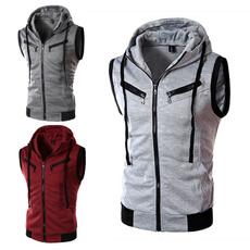 Vest, hooded, Sleeveless hoodie, Coat