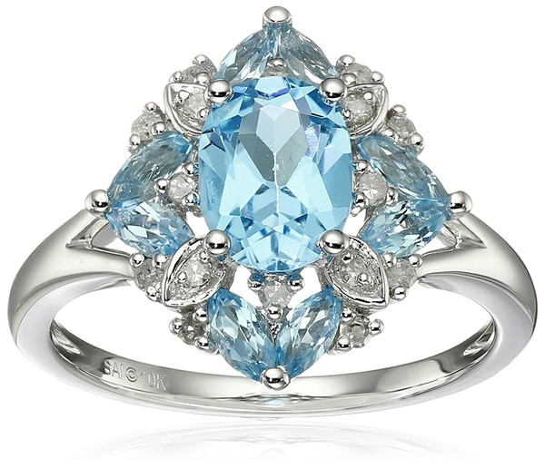 Sterling, Blues, 925 sterling silver, wedding ring