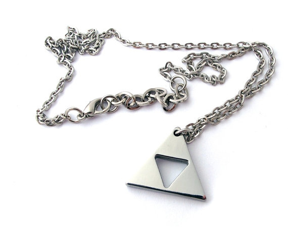 Steel, legendofzeldanecklace, polished, Jewelry
