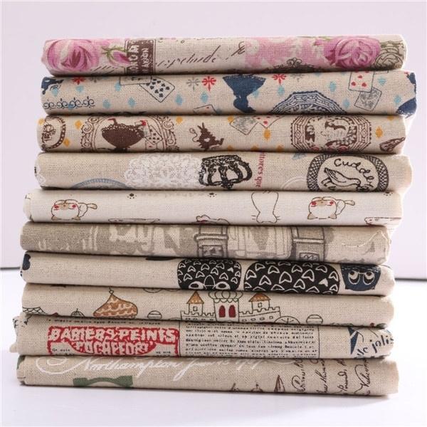 Natural, Fabric, Cloth, Patchwork