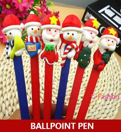 ballpoint pen, christmaspen, Christmas, polymerclay