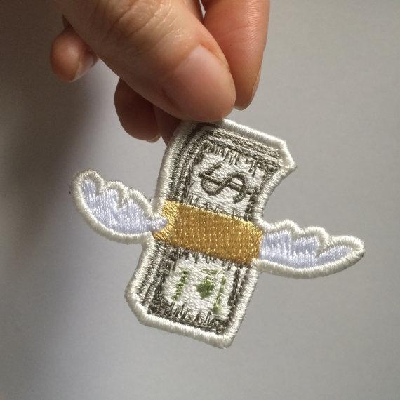 Emblem, Applique, Sewing, Wings