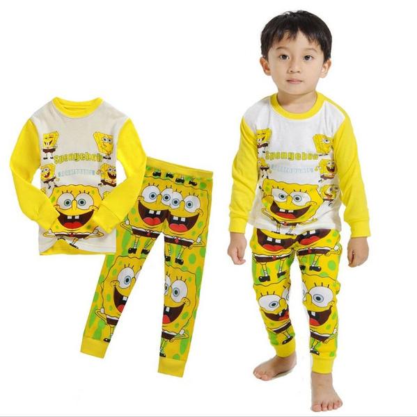 unisexbabyclothingset, kidssleepwear, Sleeve, Sponge Bob