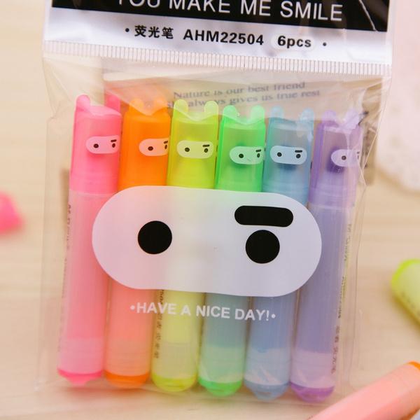 highlighterpen, cute, markershighlighter, ballpoint pen