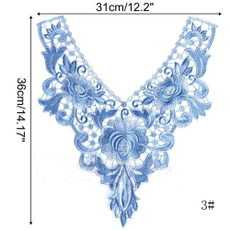 laceembroideredneckcollar, laceapplique, Sewing, Lace
