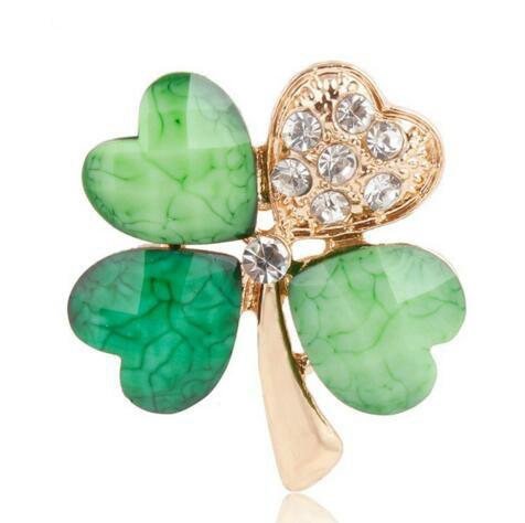 fourleafcloverbrooch, leaf, Jewelry, Clover