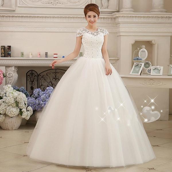 ballgownweddingdres, beaded dress, Sleeve, gowns