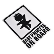 Funny, babyincarsafetysignsticker, Home Decor, babyprincessonboard