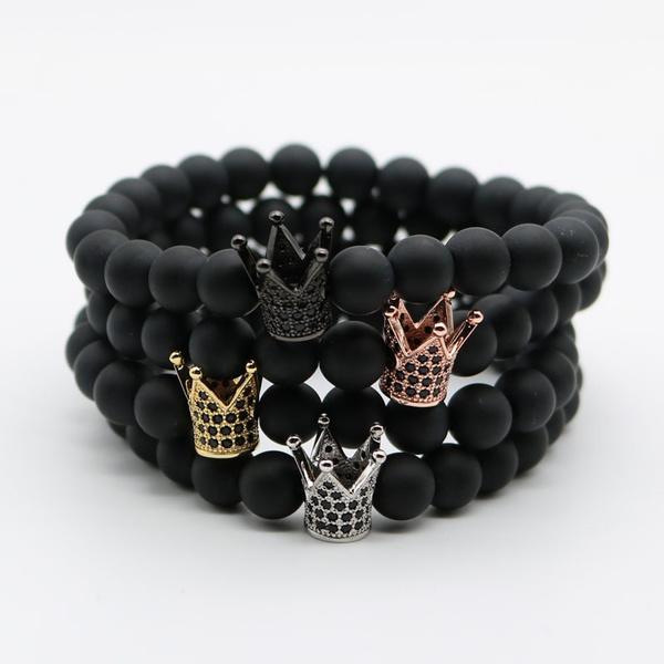 Charm Bracelet, 8mmmattestonebead, Men, Jewelry