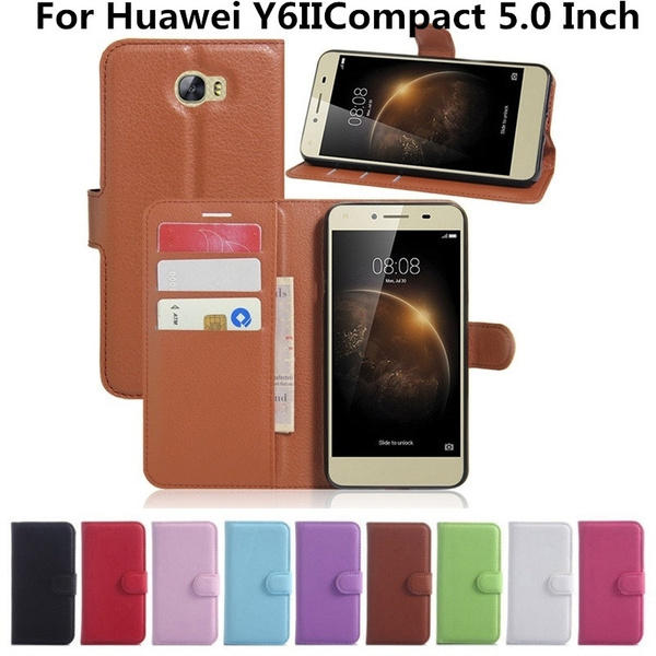 For Huawei Y6 II Compact (not Y6 II)Wallet Flip Leather Case With Card Slots Stand Cover For Huawei Y6IICompact (5.0 Inch) Phone Bag   Wish
