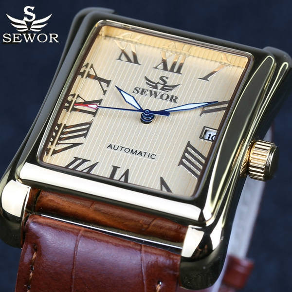 Dress Watches, Gifts For Men, Clock, leather strap