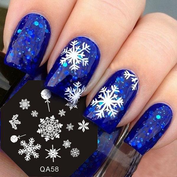 Nails, holidaynailartstampingplate, nailartstamp, Winter