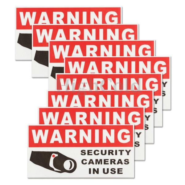 securitycamerasticker, Waterproof, Stickers, camerasticker