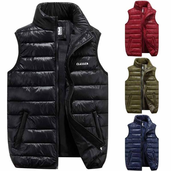 sleevelessdownjacket, Vest, Men, lights
